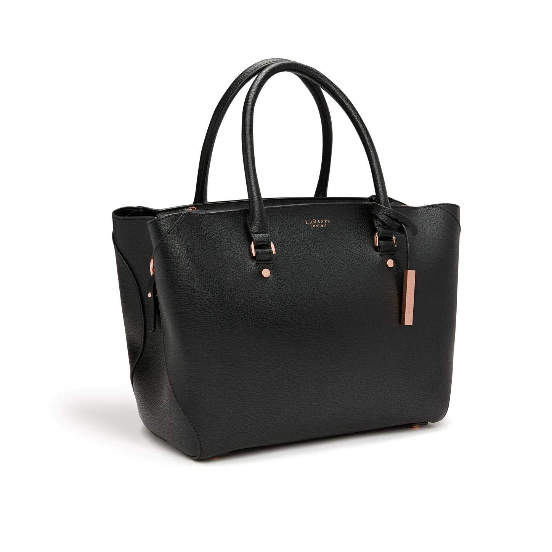 Amazon.com  LaBante - Sophie - Tote Bag for Women - Black Handbag Vegan  Leather Purse Large Tote Bag Briefcase for women  b383118d8
