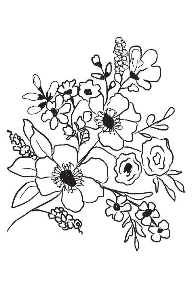 Fresh Flowers #2 Prima Marketing Christine Adolf Cling Stamp