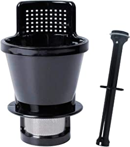Podoy 8006 Juicing Screen Compatible with Omega juicer, Replace 8003, 8004, 8005, 8006 and 8006 Plunger Pusher Stick for Single Auger 8003 8004 8005