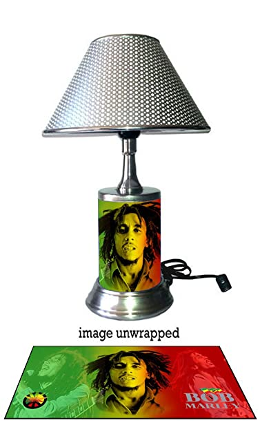 Bob Marley Lamp With Chrome Shade