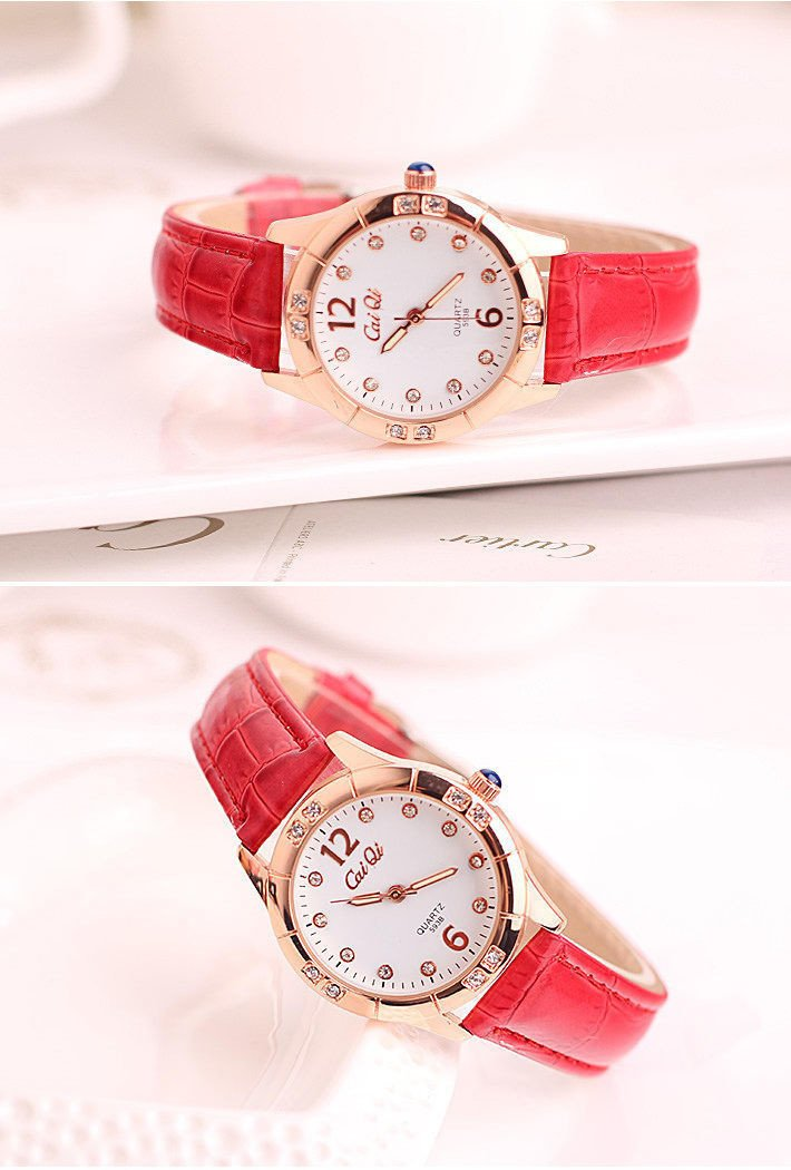 Generic Night_of Korean_style_of women girls _jacket_with_ stylish lovely students _waterproof_diamond_ watch women girls watch fashion _brand_ watch es_are_Ms.