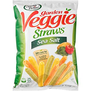Sensible Portions Garden Veggie Straws, Sea Salt, 12 Oz, Pack of 12