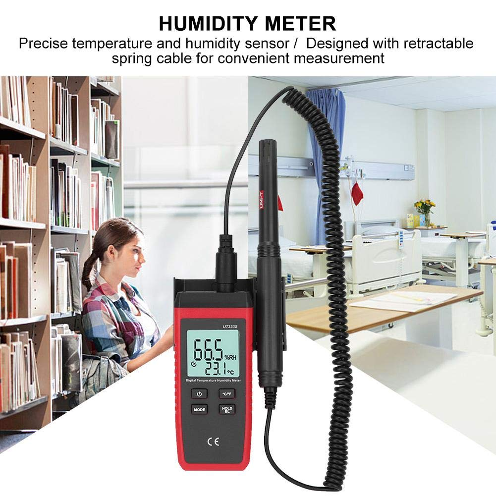 UT333S Mini-LCD-Psychrometer-Temperaturmessger/ät Industrie- und Ingenieurversuche usw. Pr/äzisions-Feuchtetemperatur-Messger/ät Digitales Thermometer-Hygrometer f/ür Labor-