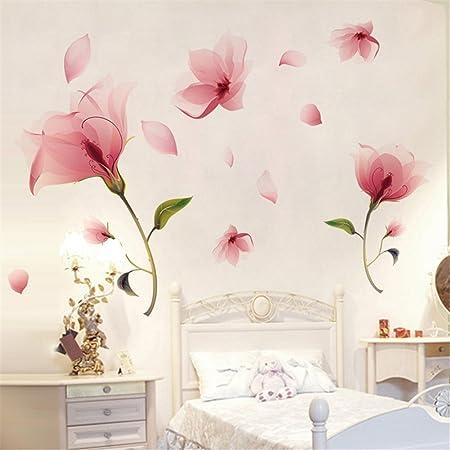 Romote Romantique Rose Fleur d\'Orchidée Pétale Tomber Autocollant Mur  Chambre Décoration