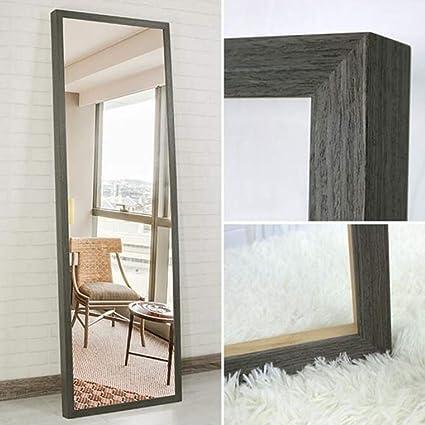 Specchio da Terra- Specchio per Vestire a Parete in Legno massello ...