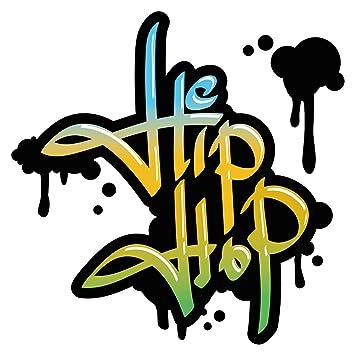 Pegatina de pared sala de los jóvenesGraffiti Hip Hop prensa amarilla pegatina adolescente sala juvenil deco adolescentes niñas niños: Amazon.es: Bebé