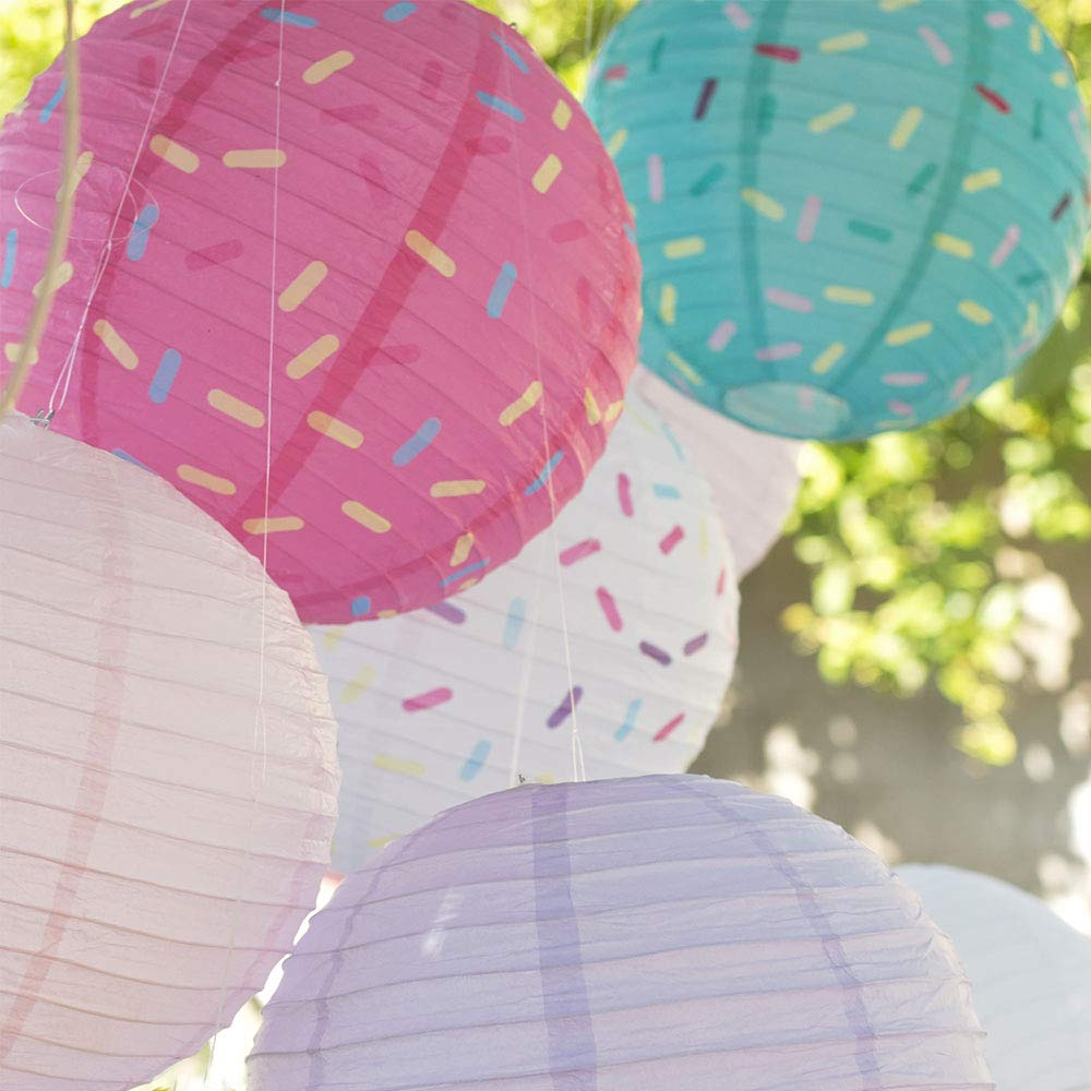 Just Artifacts 12inch Hanging Paper Lanterns (Sprinkles Pattern, 3pcs) by Just Artifacts (Image #6)