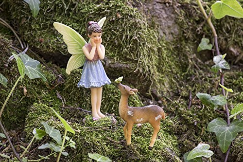 Joykick Fairy Garden Wishing Well Kit - Miniature Hand Painted Figurine Statues with Accessories - Set of 5pcs for Your House or Lawn Decor by Joykick (Image #4)