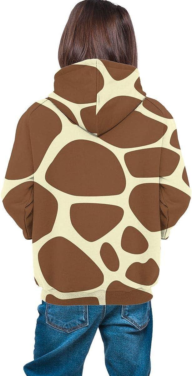 Kjiurhfyheuij Teen Pullover Hoodies with Pocket Giraffe Soft Fleece Hooded Sweatshirt for Youth Teens Kids Boys Girls