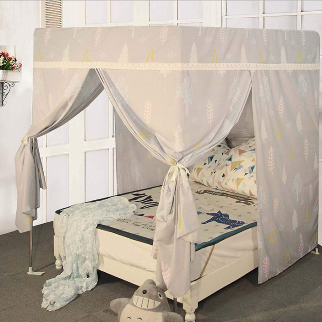 6 1.8m 6 1.8m Bed Mosquito net Student Dormitory Single Upper Curtains Integrated Shade Mosquito net,6,1.8m