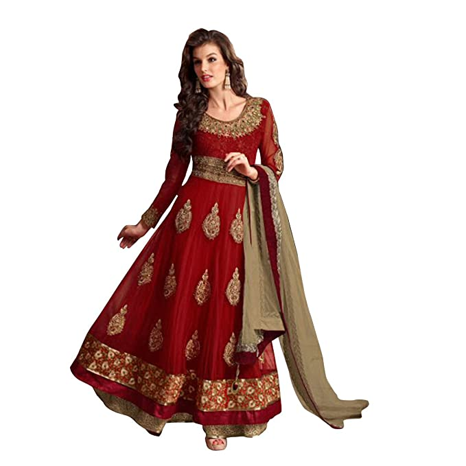 Amazon.com: India Anarkali Shalwar Kameez traje sari boda ...