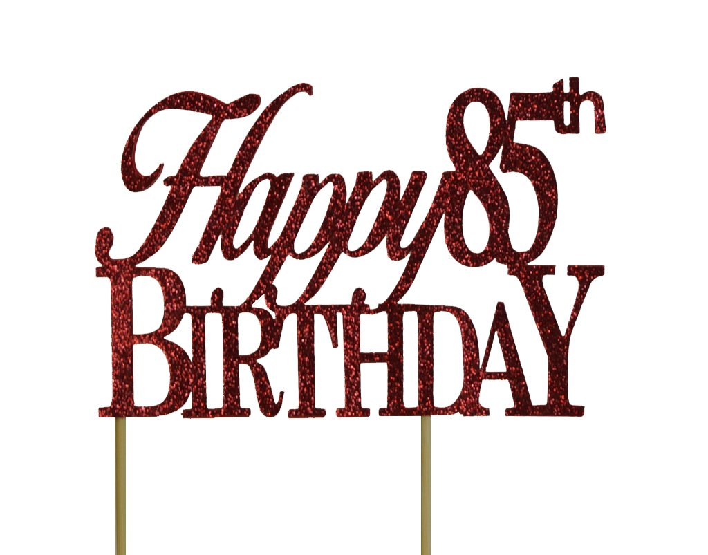 All About Details Gold Happy-85th-birthday Cake Topper CATH85B