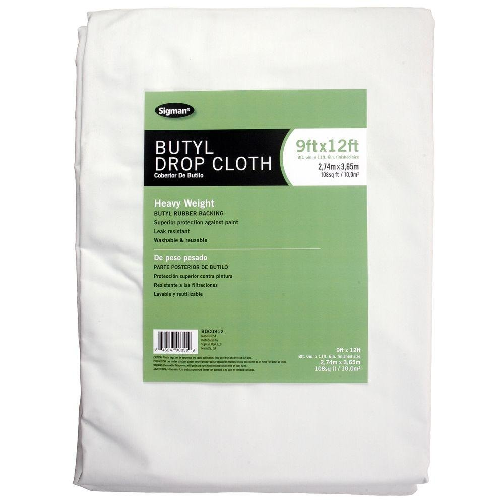 Sigman 8 ft. 6 in. x 11 ft. 6 in. Butyl Drop Cloth