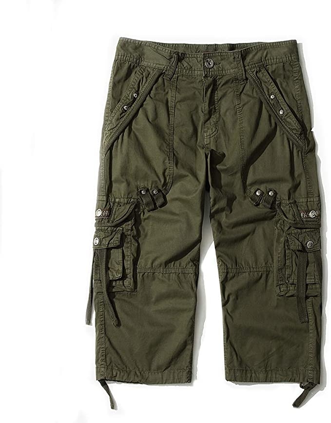 New Mens Washed Cargo Combat Shorts Summer Casual Trouser Twill Cotton Army Pant