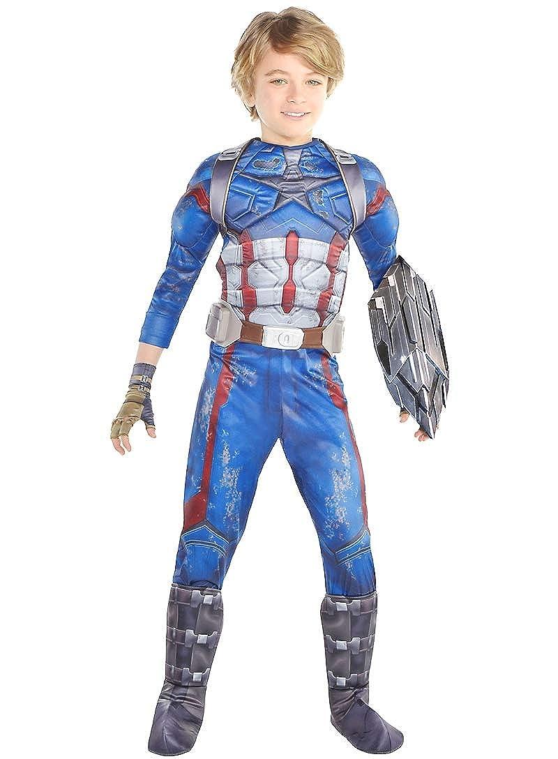 Amazon.com: Disfraz de Capitán América de HalloCostume para ...