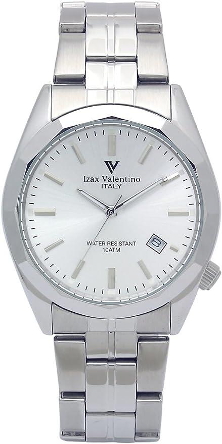 [アイザックバレンチノ] 腕時計 オールステンレス 12面カットベゼル メンズ シルバー VG-560-2