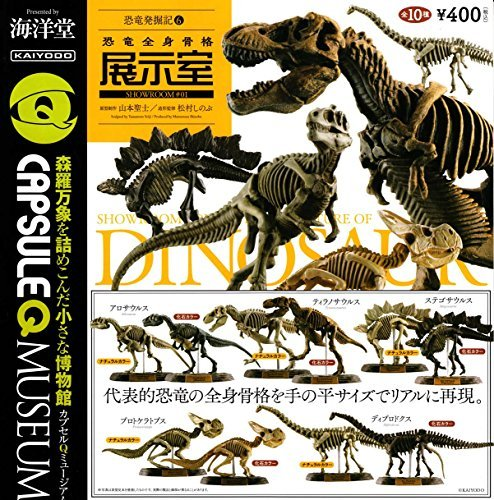 Capsule Q Museum dinosaur excavation Chronicle 6 General dinosaur skeleton exhibit room the 10 kinds set (set) by Kaiyodo (KAIYODO)