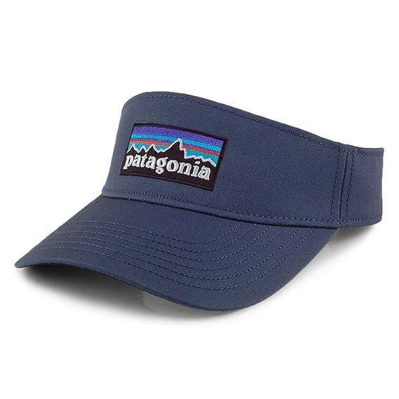 3515ff0c Patagonia Hats P-6 Logo Visor - Blue Adjustable: Amazon.co.uk: Clothing