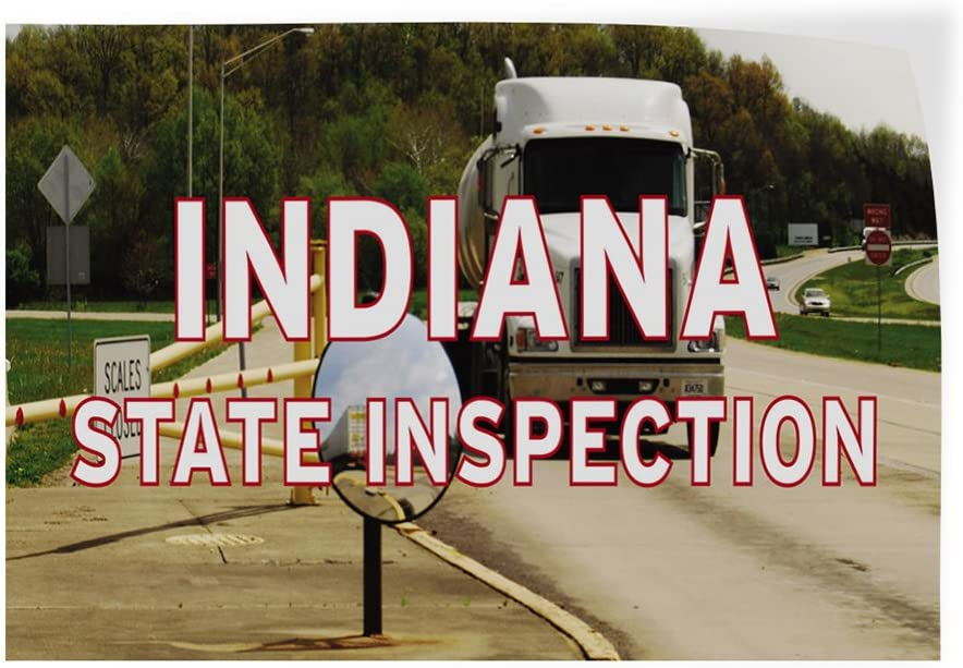 Decal Sticker Multiple Sizes Indiana State Inspection Business Indiana State Outdoor Store Sign White 34inx22in Set of 10