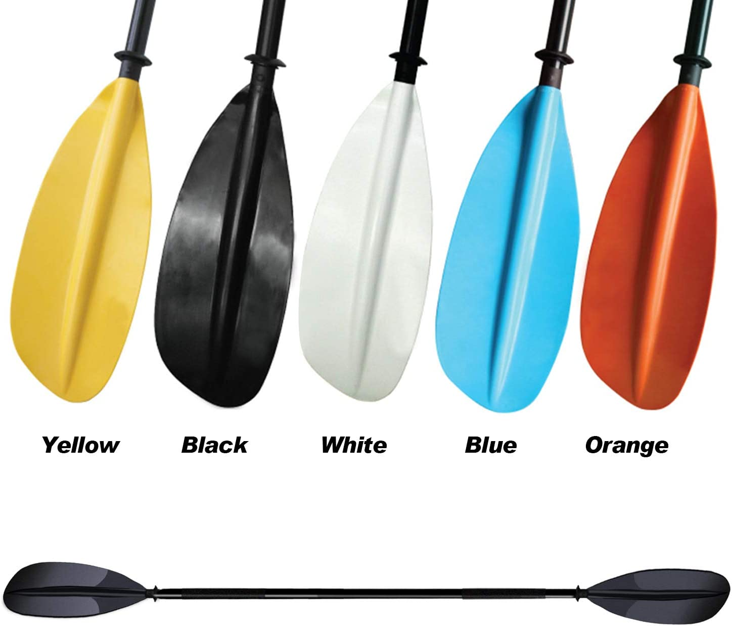 Naviskin 5 Color Available Aluminum 2 Pieces Construction Kayak Paddles 87-Inch 96-Inch for Kayaking