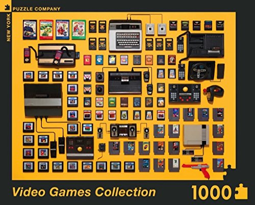 New York Puzzle Company - Jim Golden Video Games - 1000 Piece Jigsaw Puzzle