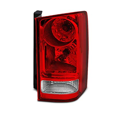 For Honda Pilot Red Clear Rear Tail Light Brake Tail Lamp Passenger Right Side Replacement Assembly: Automotive