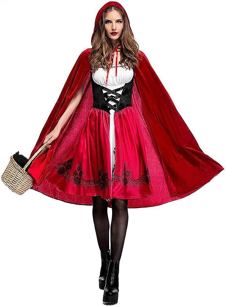 Halloween Caperucita Roja Disfraz Adulto Cosplay Vestido,Sin ...