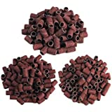 Apstour 300pcs 80# 120# 180# Options Nail Dedicated Sanding Ring Bands Grinding Head Polisher Essential Supplies Sand Circle