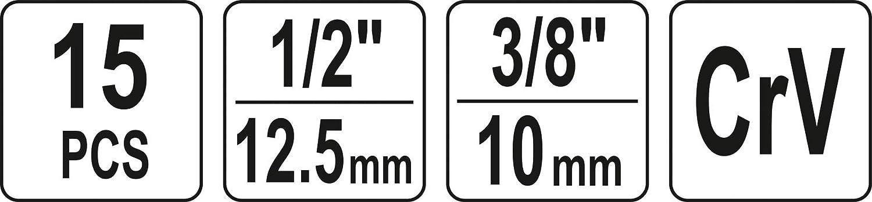 Yato Profi Bremsen Montage- und Wartungssatz 15 TLG Bremsenwerkzeug Satz Bremssattelb/ürste mit Bremsfedernzange Bremsdienstschl/üssel
