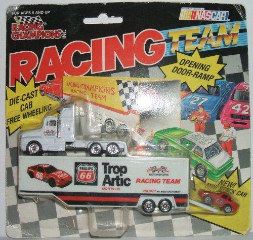 - NASCAR Phillips 66/Trop Artic Racing Team Transporter with MINI Stock Car