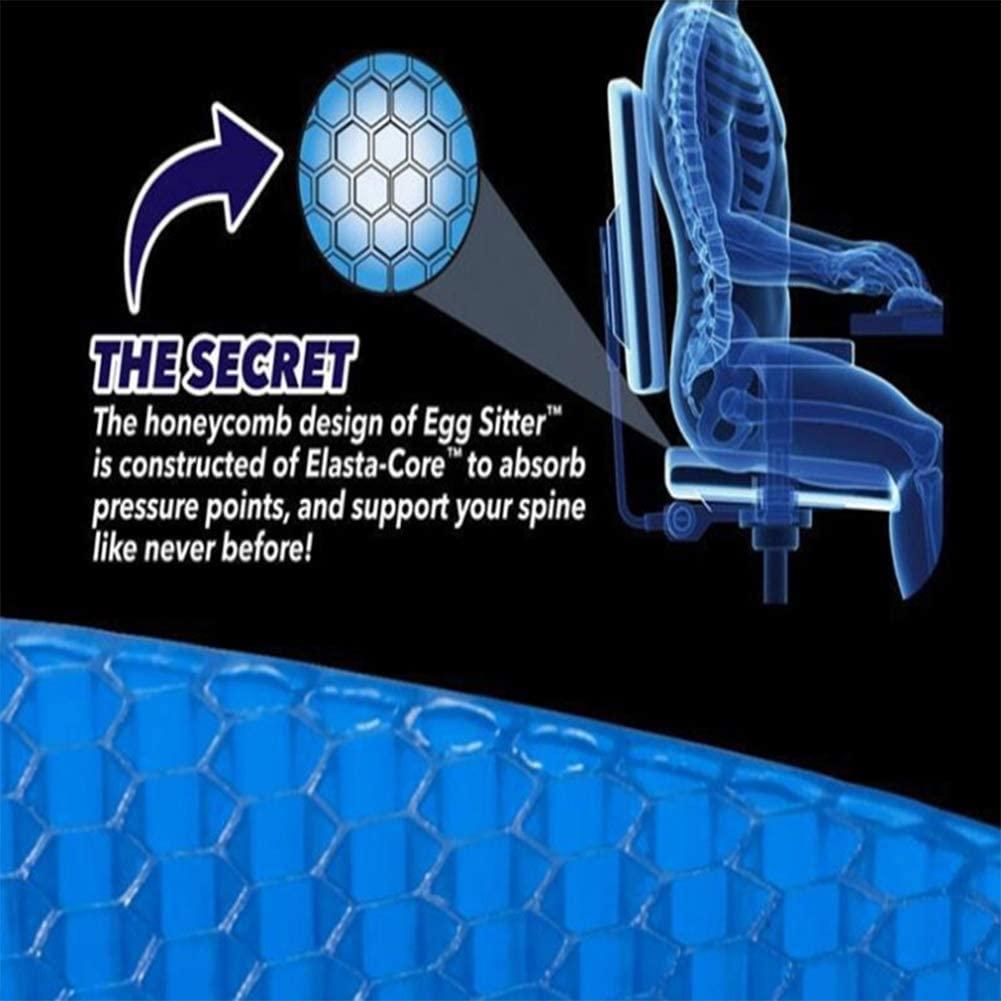 HEHAOYUAN Car Silicone Honeycomb Car Seat Cushion For Office And Family Design Relieves Sciatic Nerve Pain