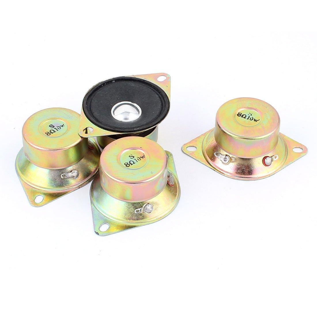 sourcingmap® 10W 50mm Diamètre 8Ohm Mini interne aimant haut-parleur 4pièces a15112300ux1655
