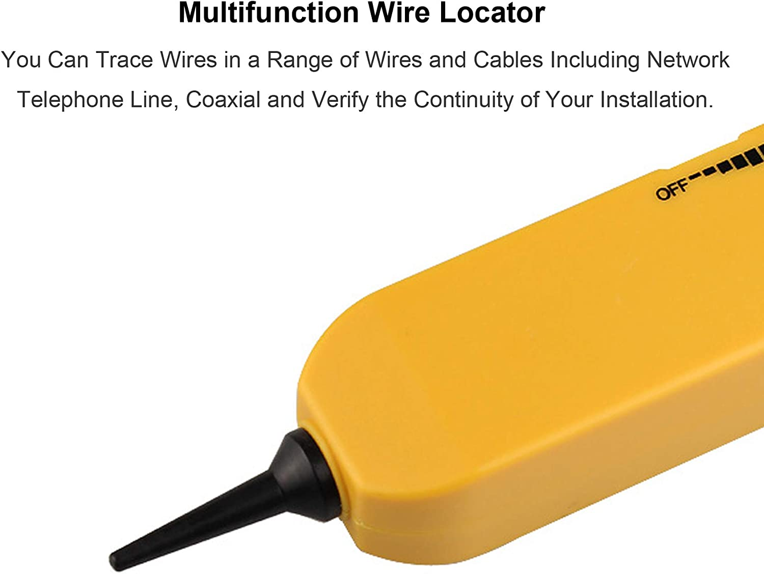 Automotive Circuit Identify Tools w//Clips /& RJ11 Plug Cable Signal Locator Tester Network Telephone Line Test Circuit Continuity Electrical Wire Tracer Circuit Tester w//Tone Generator /& Probe Kit