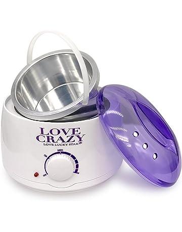 LOVECRAZY - Calentador de Cera Eléctrico para Depilación Profesional 500ml, Color Blanco