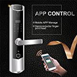 MRCARTOOL Wireless Wi-Fi Smart Door Lock With Video Peephole Door Vewer, Touch Screen, APP Remote Unlock, Fingerprint, Password, Swiping Card, Physical key, Remote Video Call, Real-Time Monitoring