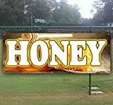 Honey 13 oz Heavy Duty Vinyl Banner Sign with Metal Grommets, New, Store, Advertising, Flag, (Many Sizes Available)