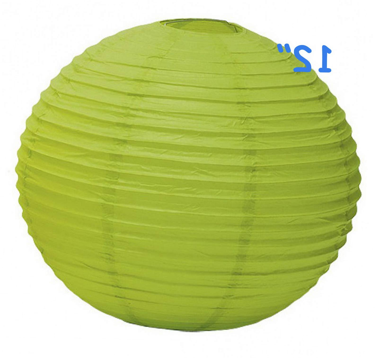 Mikash 12X Round Chinese Paper Lanterns lamp 12 Wedding Party Floral Event Decoration   Model WDDNGDCRTN - 25488   with Light