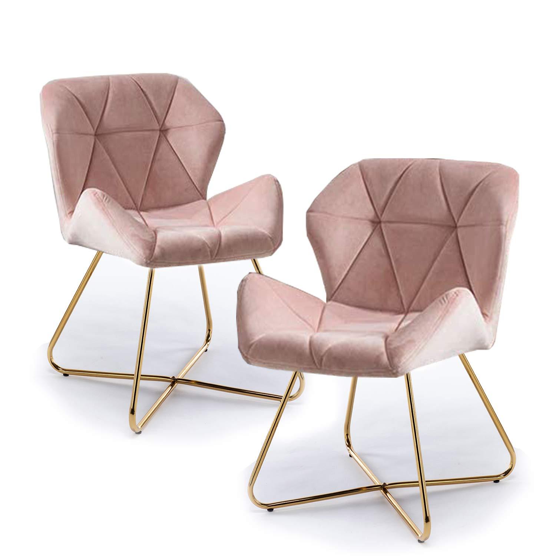 Gloop Hallo Home® set med 2 matsalsstol köksstol fåtöljstol fåtölj stol stol stol klädsel stol matstol stol stol set svart Rosa X 1 st