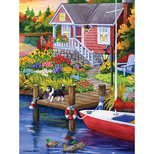 Bits and Pieces - 500 Piece Jigsaw Puzzle for Adults - Lakeside Retreat 500 - 500 pc Jigsaw by Artist Nancy Wernersbach