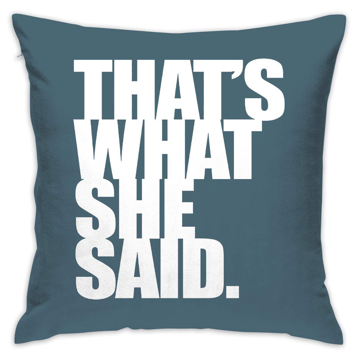 Amazon.com: Create Magic - Thats What She Said Throw Pillow ...