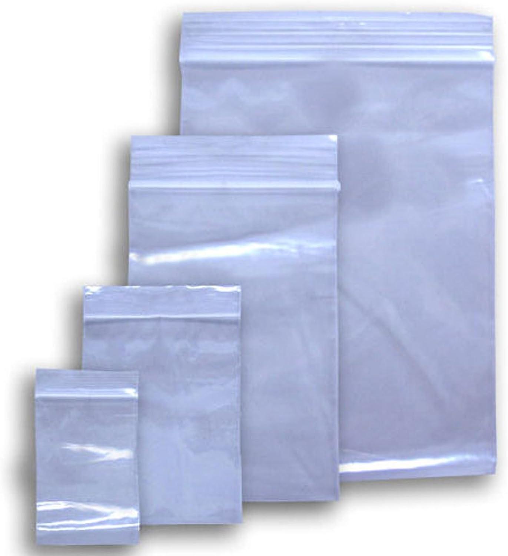 100-12 x 15 CLEAR 2 mil PLASTIC ZIPLOCK BAGGIES