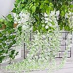 CEWOR-12pcs-Artificial-Wisteria-Hanging-Vine-Fake-Flower-Silk-Wisteria-VineFake-Silk-Flowers-in-Natural-Chain-Garland-for-Wedding-Ceremony-Arch-Party-Home-Garden-Decor-White