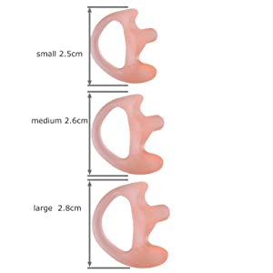 KEYBLU Universal Replacement Soft Silicone Open Ear Insert Earmould for Two Way Radio Coil Tube Audio Kits UV-5R UV-B6 BF-888S UV-B5 (Carnation, 1 Pair Medium) (Color: carnation, Tamaño: 1 pair medium)