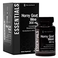 Nugenix Essentials Horny Goat Weed Extract - 300mg Epimedium Extract, 40% icariin - Supports Increased Sexual Vitality and Energy for Men and Women