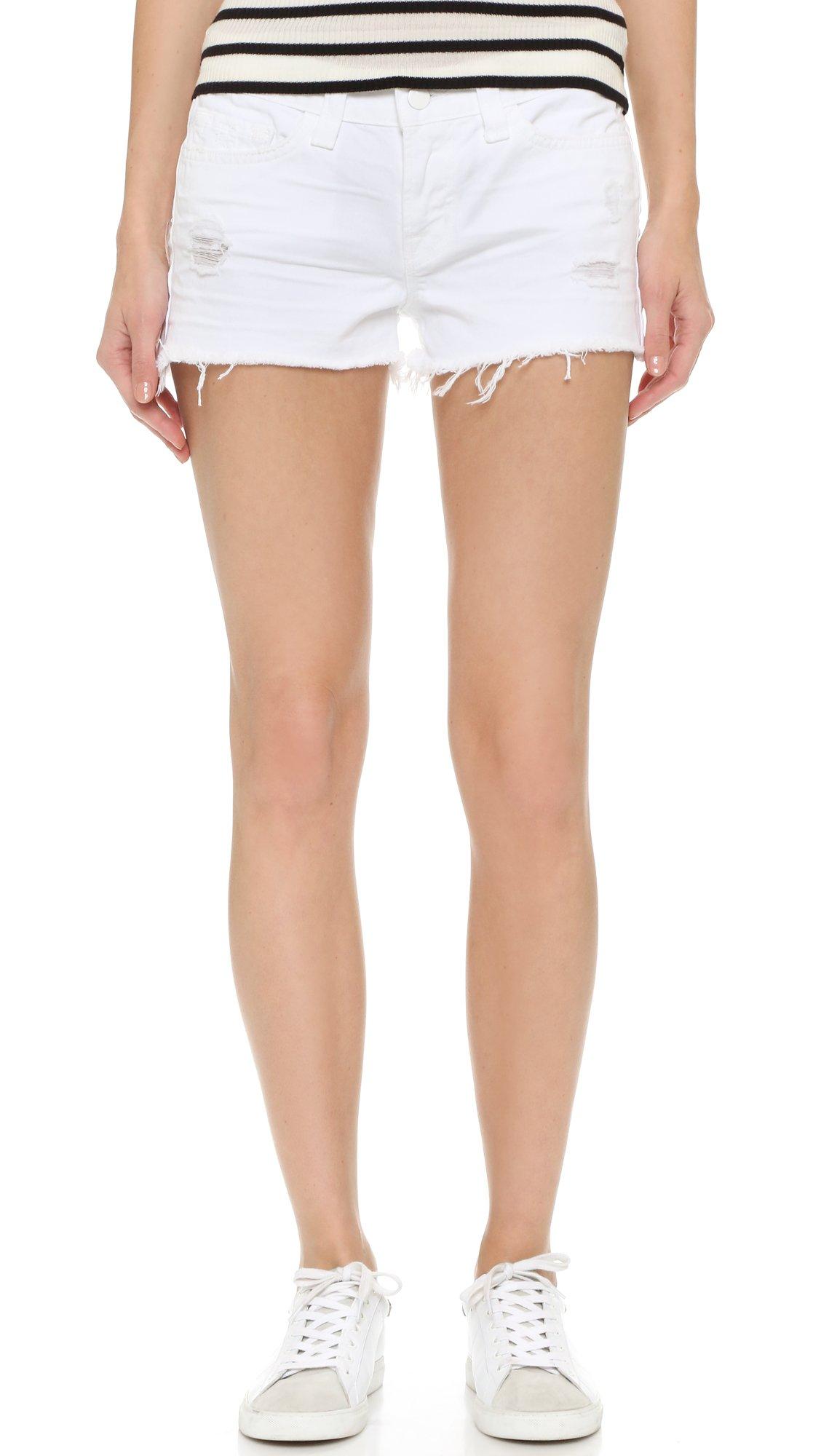 J Brand Women's 1046 Cutoff Shorts, White Vixen, 25