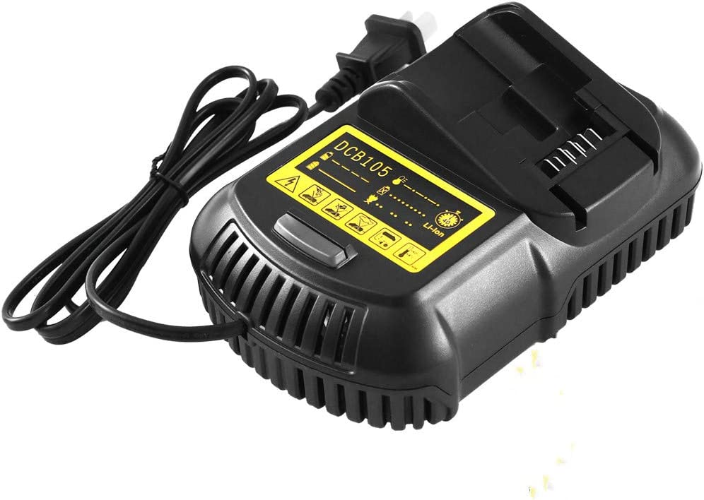 Replacement for DCB107DCB112 12V/20V MAX Lithium Ion Battery Charger for Dewalt Lithium Ion DCB101 DCB115 DCB107 DCB105 DCB205 DCB203 DCB204 DCB206 DCB201 DCB120 DCB127