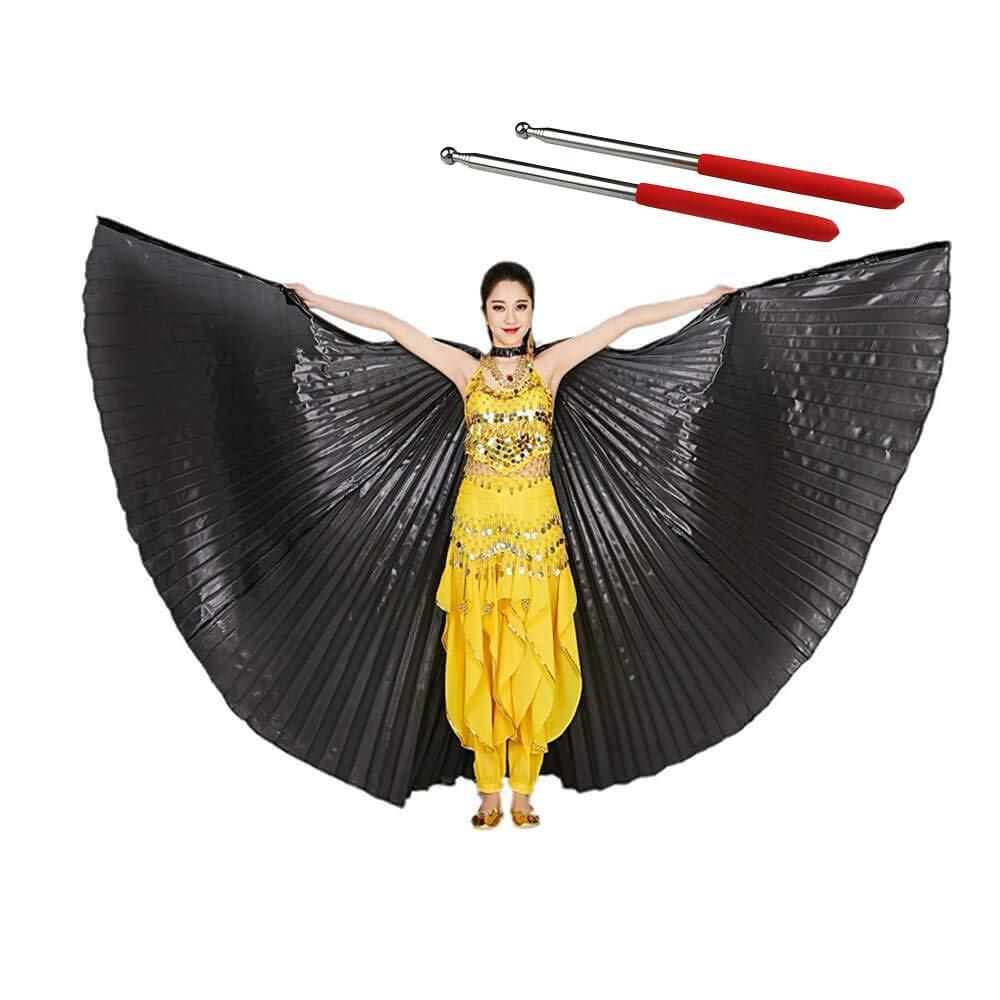 Turkish Emporium Isis Wings F/ür Bauchtanz tanz Schleier Fl/ügel Schleier Zubeh/ör Kost/üme Fasching Karneval con barre di metallo