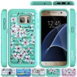 Galaxy S7 Case, HLCT Rugged Shock Proof Dual-Layer Case for Samsung Galaxy S7 (2016) (Green/Green)