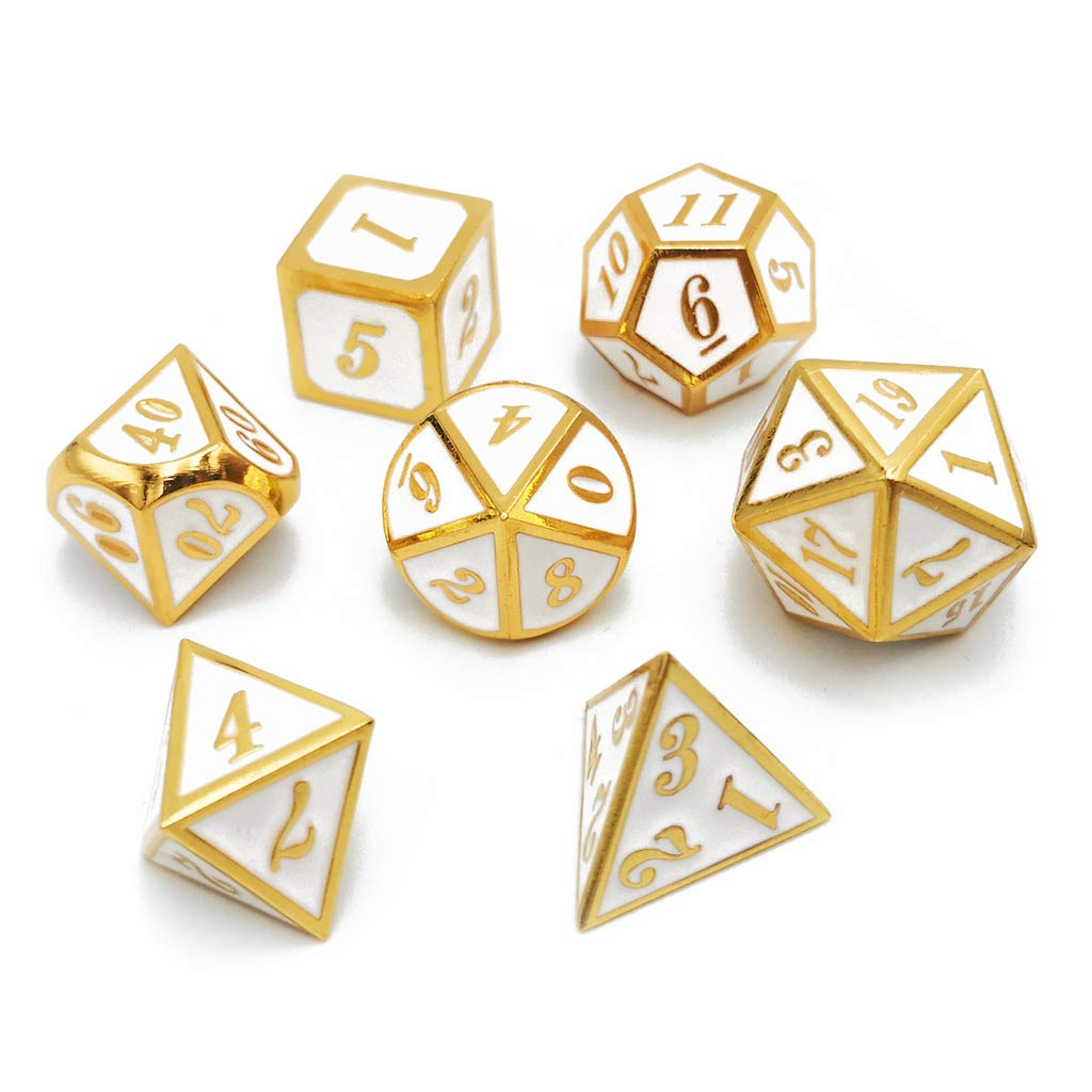 Haxtec Metal Dice Set D/&D Blender Silver Blue Purple Metal DND Dice for Dungeons and Dragons RPG Games-Myth