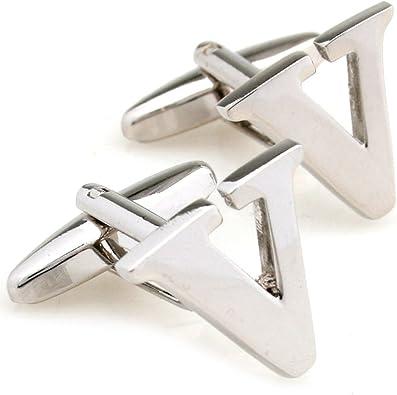 Capital letra V forma esférica de la Hombres Gemelos de cobre un par con caja de regalo: Amazon.es: Joyería
